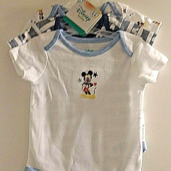 Disney Other - Disney Baby 3 Pc Onesies